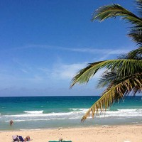 View of beach from Playa Del Sol here in Ft Lauderdale FL