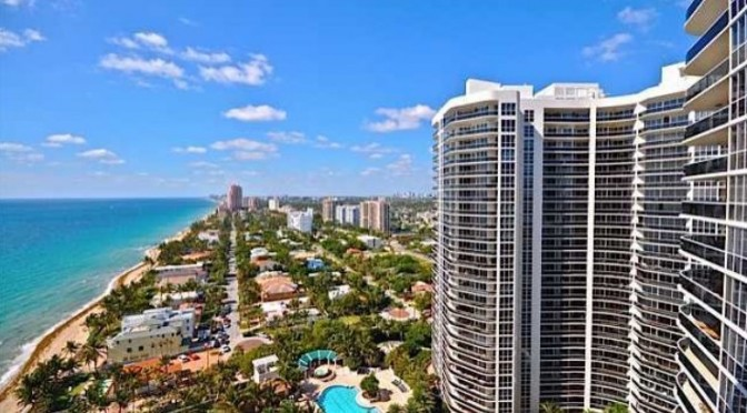 View of luxury Fort Laudedale condos for sale in L''Hermitage