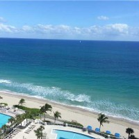 Ocean views from a luxury condo here in L'Ambiance Fort Lauderdale