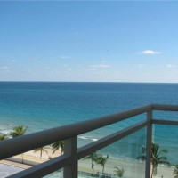 Ocean views from a condo for sale in Playa del Mar Fort Lauderdale