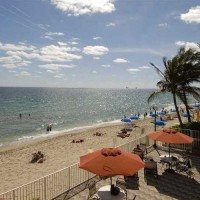 View of the ocean and beach at The Galleon Condominium here in Fort Lauderdale