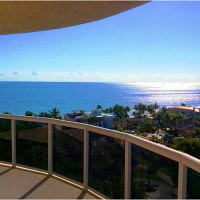 Look at the views from this luxury Fort Lauderdale oceanfront condo here in L'Hermitage