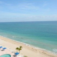 Ocean views from a Fort Lauderdale condo for sale here in Plaza East
