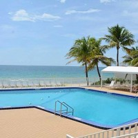 Pool views from a Fort Lauderdalle condo for sale here in Ocean Summit