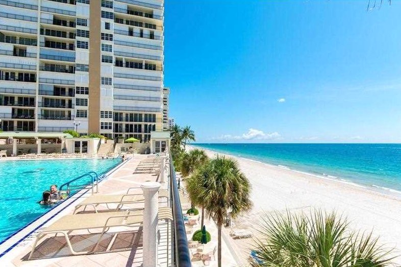 Ocean views from one of the Plaza South condos for sale Fort Lauderdale