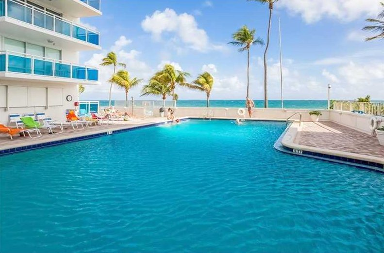 Pool views from condo for sale The Commodore here on Galt Ocean Mile