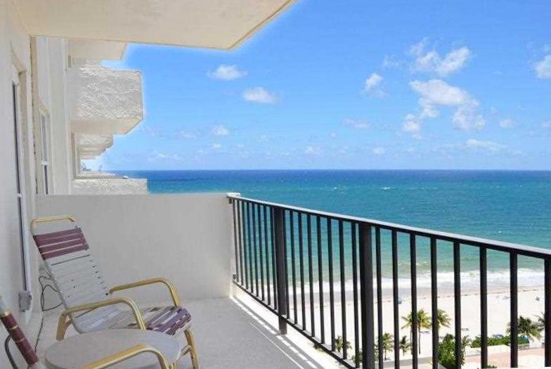 View from one of the Fort Lauderdale condo for sale here on Ocean Riviera on Galt Ocean Mile