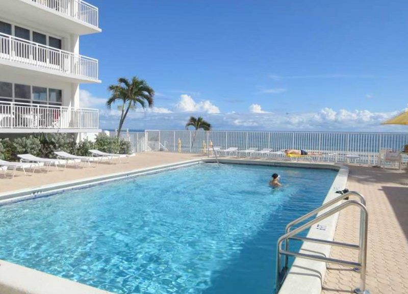 Pool views from one of the Regency Tower South condos for sale Fort Lauderdale