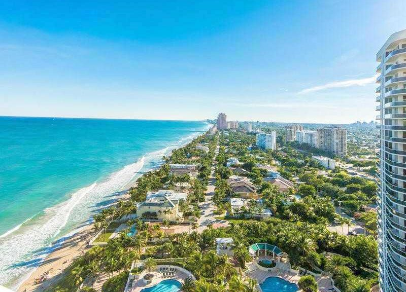 View from one of the L'Hermitage condos for sale Fort Lauderdale